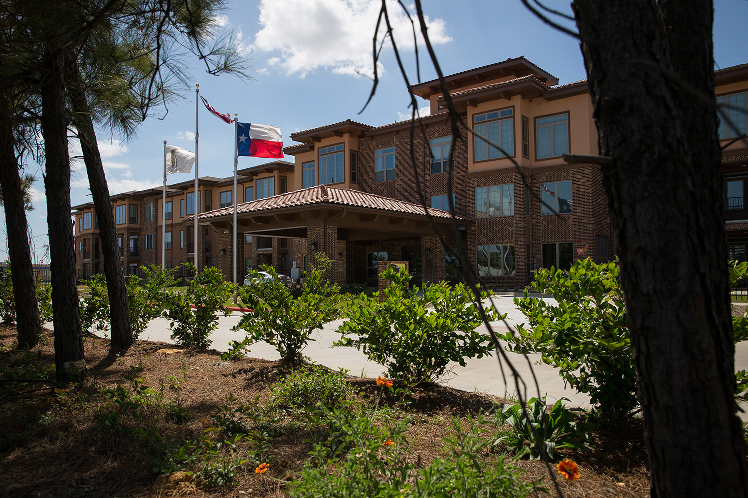 The Retreat at Westlock, an affordable housing complex for seniors built with Ike recovery funds in a wealthy Houston suburb.