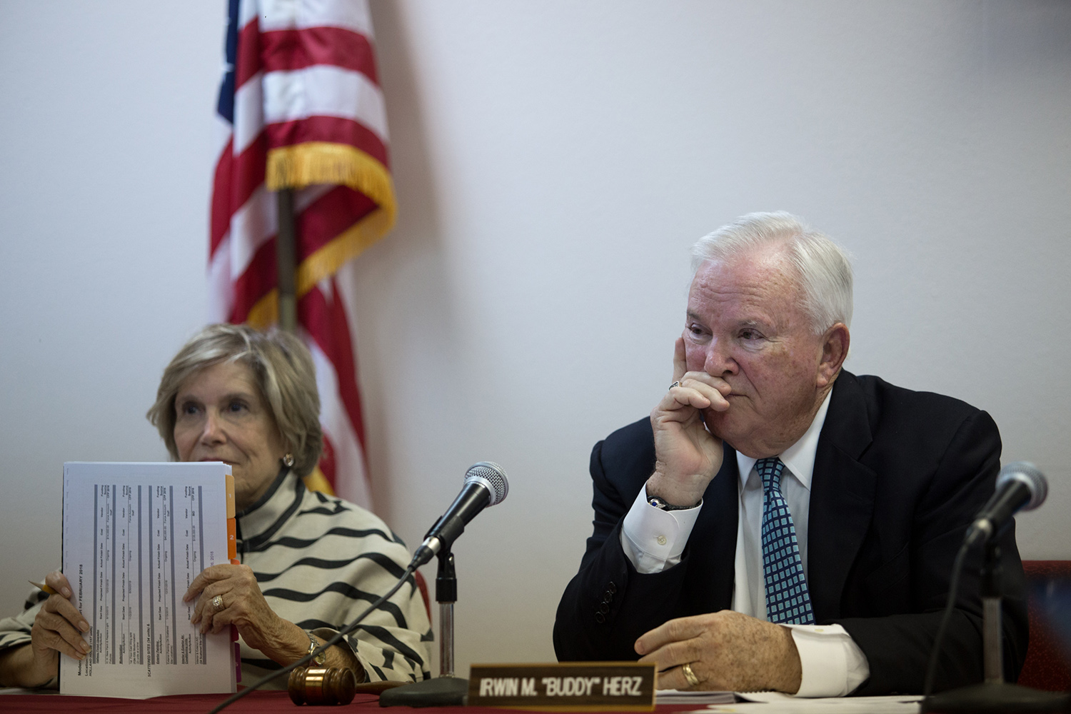 Galveston Housing Authority board members Ann Masel and Buddy Herz have blamed the state and federal governments for delays in rebuilding.