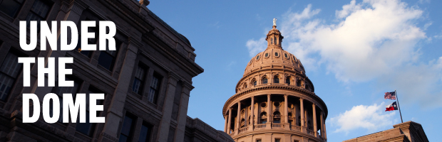 Texas Capitol dome in the sky.