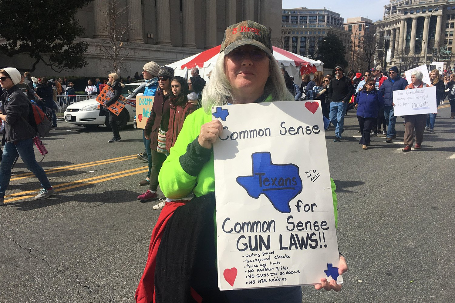 Susan Parker, a retired teacher from Houston, at the March For Our Lives event in Washington, D.C.