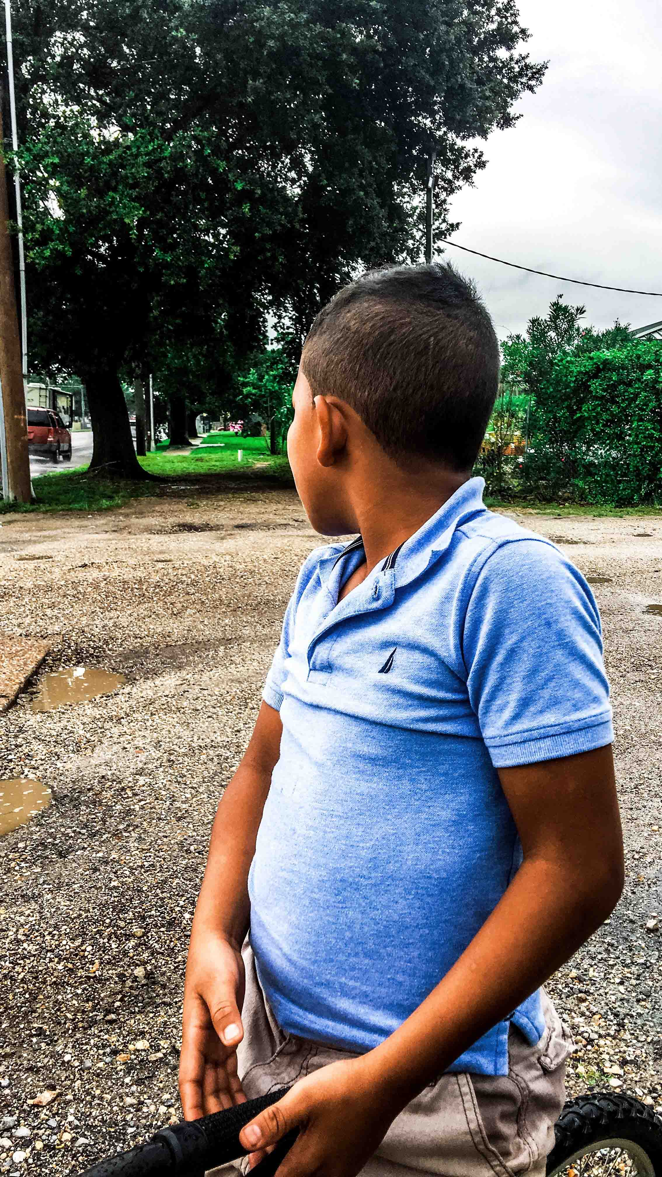 Maribel Bernardez's 10-year-old son, pictured outside of his home near New Orleans earlier this week, spent six months in a troubled Texas facility, the Shiloh Treatment Center.