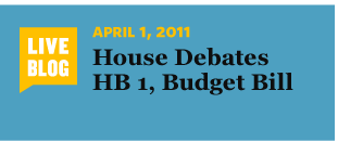 4/1/2011 House Debates HB 1, Budget Bill