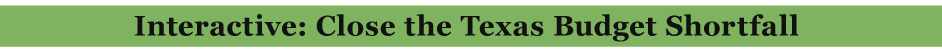 4/19/2011 Interactive: Close the Texas Budget Shortfall