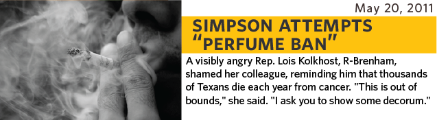 a visibly angry state Rep. Lois Kolkhost, R-Brenham, shamed her colleague, reminding him that thousands of Texans die each year from cancer. This is out of bounds, she said. I ask you to show some decorum