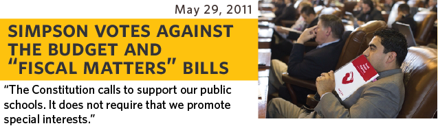 The Constitution calls to support public schools. It does not require that we promote special interests
