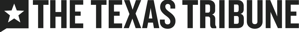 Horizontal, all black version of the Texas Tribune logo
