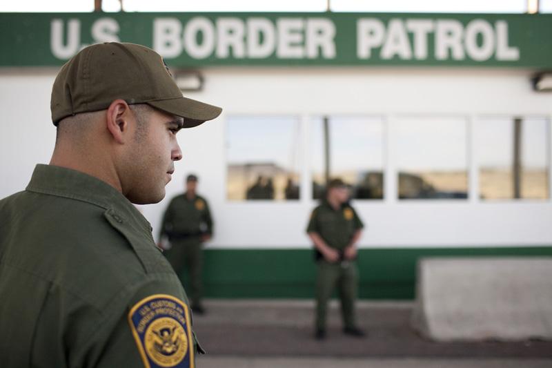 Border Patrol Checkpoint on HWY 118, south of Alpine, Tex.