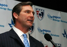Craig James, ESPN Analyst, SMU All American, one half of the Pony Express at SMU with Eric Dickerson, announces a Team Texas draft pick