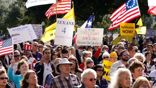A Tea Party rally at the Texas Capitol on Jan. 16, 2009.