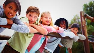 Photograph of children at a park