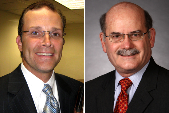 Republicans Thomas Ratliff (left) and Don McLeroy prepare to square off for a State Board of Education primary.