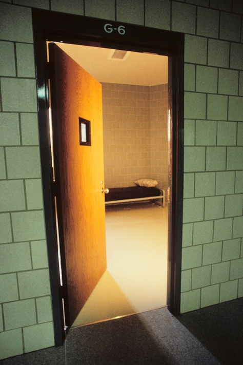 Doorway at a juvenile detention facility.