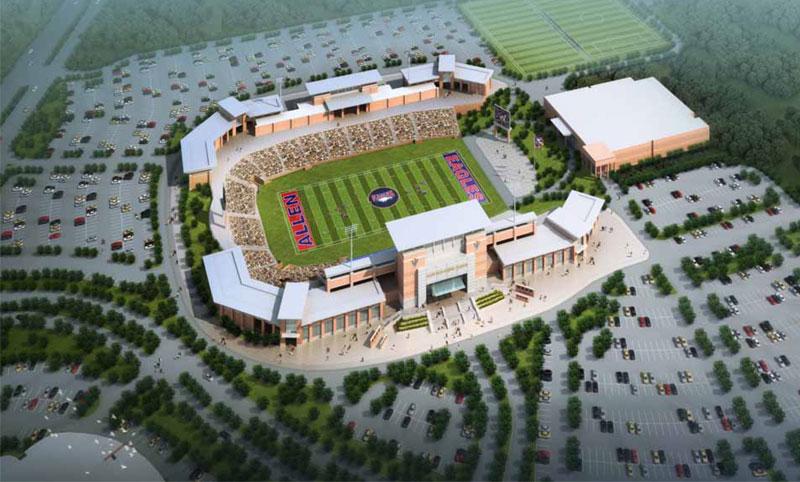 Texas 60 Million High School Football Stadium The