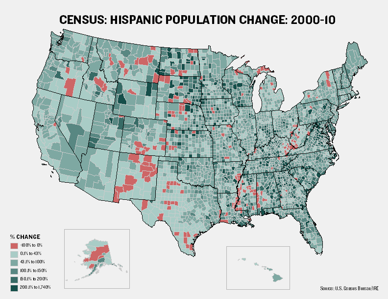 Maps Visualize US Population Growth By County The Texas Tribune - Map of us population change 2000