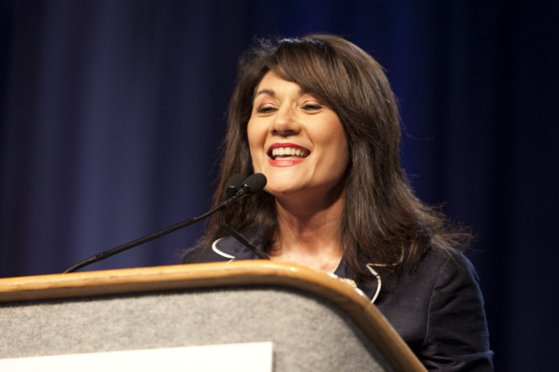 State Rep. Veronica Gonzales, D-McAllen, at the 2010 Texas Democratic Convention in Corpus Christi.