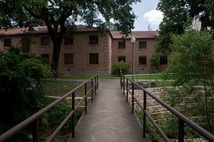 Simkins Hall at the University of Texas-Austin in July, 2010.