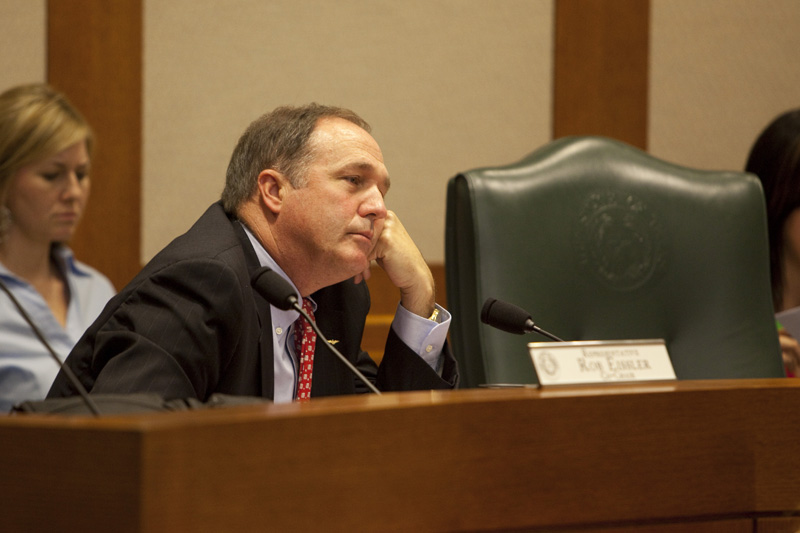 State Rep. Rob Eissler, R-Woodlands, listens to testimony at a Senate Committee on Education hearing on July 20, 2010.