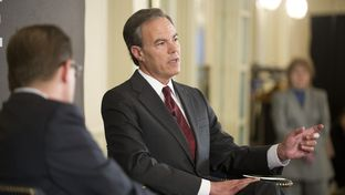 Texas House Speaker Joe Straus, R-San Antonio, says his 83rd session priorities will be education and water while speaking at TribLive on Feb. 6, 2013.