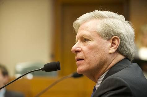 Secretary of State nominee John T. Steen, Jr. during the Senate Nominations Committee hearing on Feb. 11, 2013