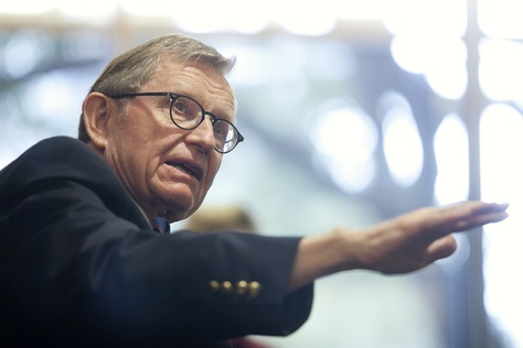 E. Gordon Gee, president of The Ohio State University and chairman of the National Commission on Higher Education Attainment, joined higher education leaders for a panel discussion on college completion recommendations in Austin, Texas.