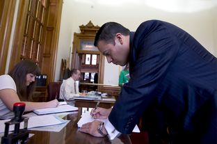 Rep. Jason Villalba R-Dallas, files the Protection of Texas Children Act on February 6th, 2013.