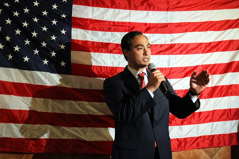 U.S. Rep. Joaquin Castro, D-San Antonio, at a victory party for congressional candidate Pete Gallego at Don Pedro Mexican Restaurant in San Antonio on Nov. 6, 2012.
