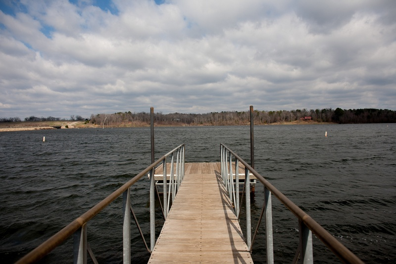 A view of Lake Gilmer in Gilmer, Texas.