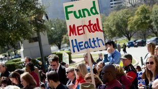 Mental health rally at the Texas Capitol organized by NAMI, the National Alliance on Mental Illness, on Feb. 28, 2013.