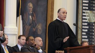 Chief Justice Wallace Jefferson calls for juvenile justice reforms during his State of the Judiciary speech on Mar. 6, 2013.