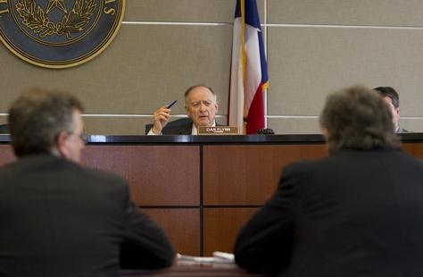 Transparency in State Agency Operations Co-Chair, Rep. Dan Flynn, speaks to UT Law representatives during committee hearing on March 12th, 2013