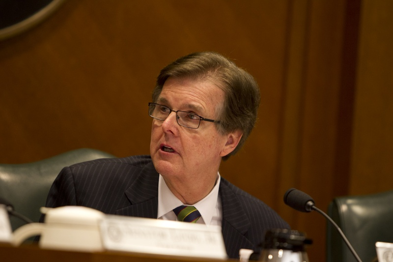 State Sen. Dan Patrick, R-Houston, at a Senate Education Committee hearing on March 12, 2013.