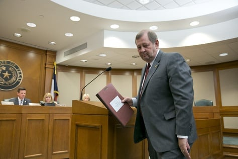 State Rep. John Otto, R-Dayton, finishes explaining his HB553 a Second Amendment preservation bill on March 13, 2013.