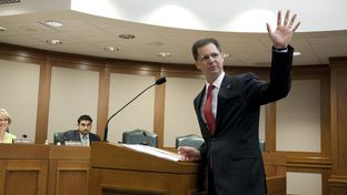 State Rep. Scott Sanford, R-McKinney, appears before the Select Committee on Federalism and Fiscal Responsibility on HCR63 on March 13, 2013.