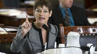 Sen. Donna Campbell, R-New Braunfels, gives a passionate response on SB 537 an abortion regulation bill in Senate Health & Human Services on March 19, 2013.