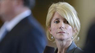 State Sen. Wendy Davis, D-Fort Worth, during debate over the state budget bill on March 20, 2013.