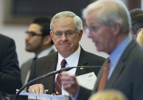 State Rep. Jimmie Don Aycock, R-Killeen, listens to HB 5 education bill debate on the House floor on march 26, 2013.