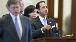 State Rep. Jose Menendez, D-San Antonio, debating amendment #14 of HB 5 from the House chamber's back mike on March 26, 2013.