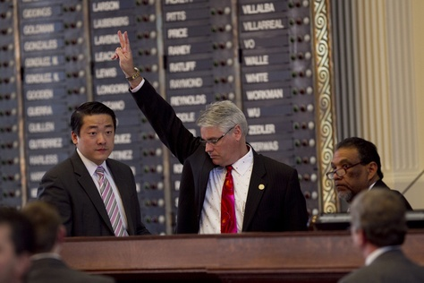 Rep. Dan Huberty R-Humble, votes on one of the 165 amendments to House Bill 5 on March 26, 2013.