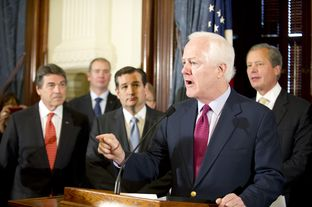 U.S. Sen. John Cornyn decries Obamacare at a Capitol press conference on April 1, 2013.