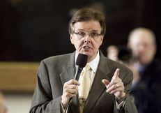 Sen. Dan Patrick R-Houston, listens to debate on SB1380 which relates to placement of video monitoring cameras in certain classrooms were students receive special services on April 4th, 2013