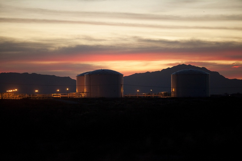 Seen is the Longhorn Pipeline petroleum tank storage terminal in the Montana Vista community in far East El Paso, Texas on April 1, 2013. El Paso Electric plans to build a natural gas power plant that will be able to provide electricity to 80,000 homes in the area.