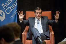 U.S. Sen. Ted Cruz, R-Texas, speaks to an Austin Chamber of Commerce audience on April 5, 2013.