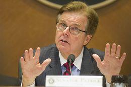 Senate Higher Education Committee Chairman Dan Patrick, R-Houston, explains his stance on SB 23 a school voucher program on April 9, 2013.