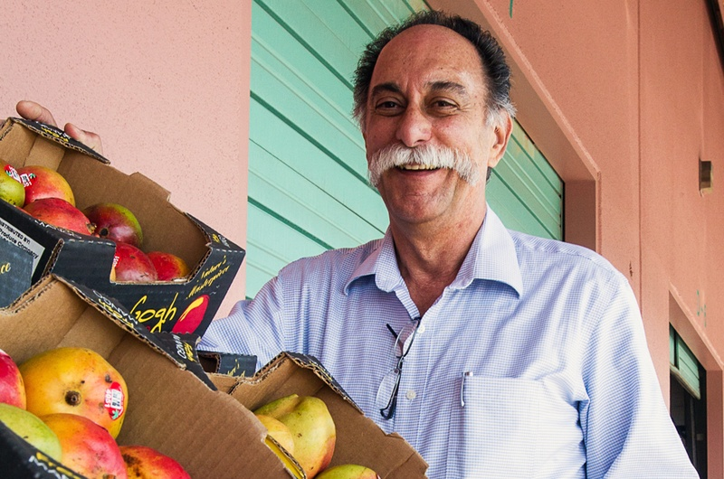 Marketing Director Carlos Zambito looks over some of the fruit imported from Mexico into his McAllen Produce Terminal.