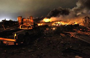 Six months after the devastating fertilizer plant blast in West, federal regulators are exploring ways to reduce the risk of such explosions in the future, including changing the shape of facilities used to store hazardous chemicals.