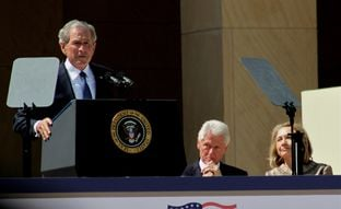 George W. Bush speaking at the dedication of the Bush Presidential Center on the SMU Campus in Dallas