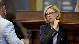 State Rep. Sarah Davis, R-Houston, on the House floor on May 4, 2013.