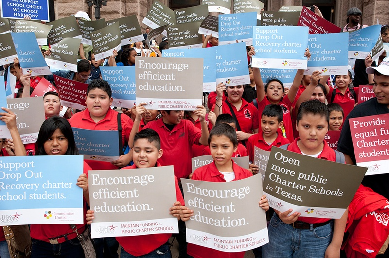A charter school rally at the Texas Capitol in 2013.