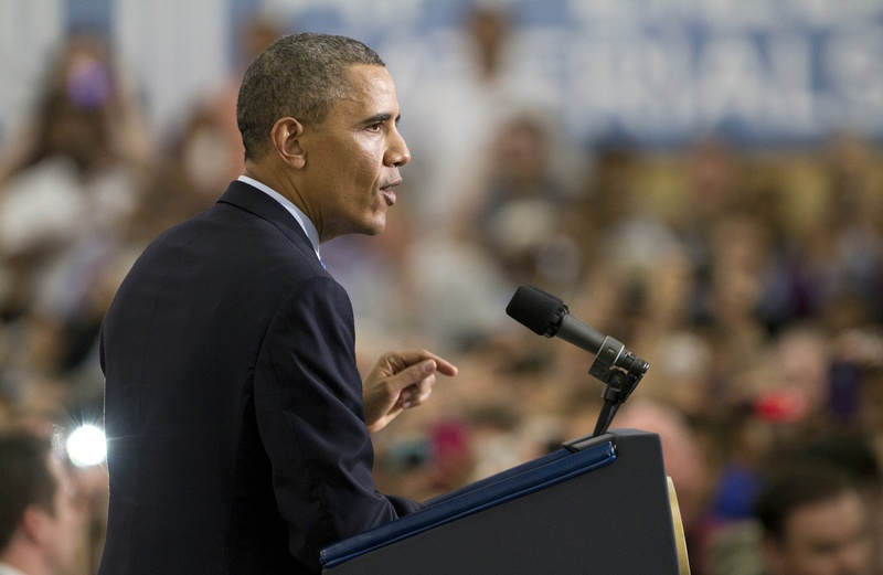 President Barack Obama speaks at Applied Materials, Inc. in Austin on May 9, 2013.
