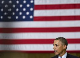 President Barack Obama speaks at Applied Materials, Inc. in Austin.